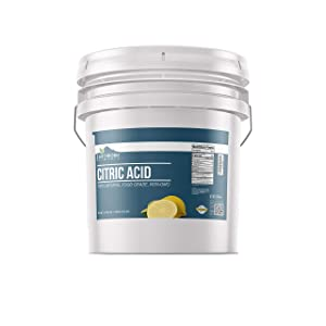 Bulk Citric Acid (30 lbs) Pure & Natural,, Food Safe , Non-GMO, Chemical-Free, BPA-Free Resealable Bucket by Earthborn Elements