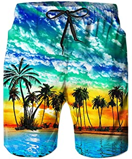 3eda1247b7bd7 Leapparel Men's Funny Swim Trunks Quick Dry Summer Surf Beach Board Shorts  with Mesh Lining/