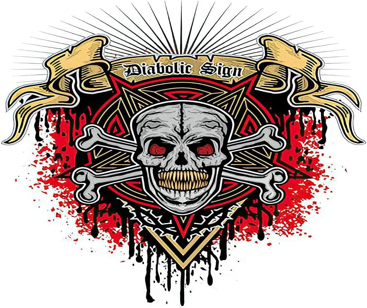 Diamond Painting Adult Painting Kits Gothic Sign Skull Grunge Vintage Home Bedroom Living Room Art Wall Decoration 16