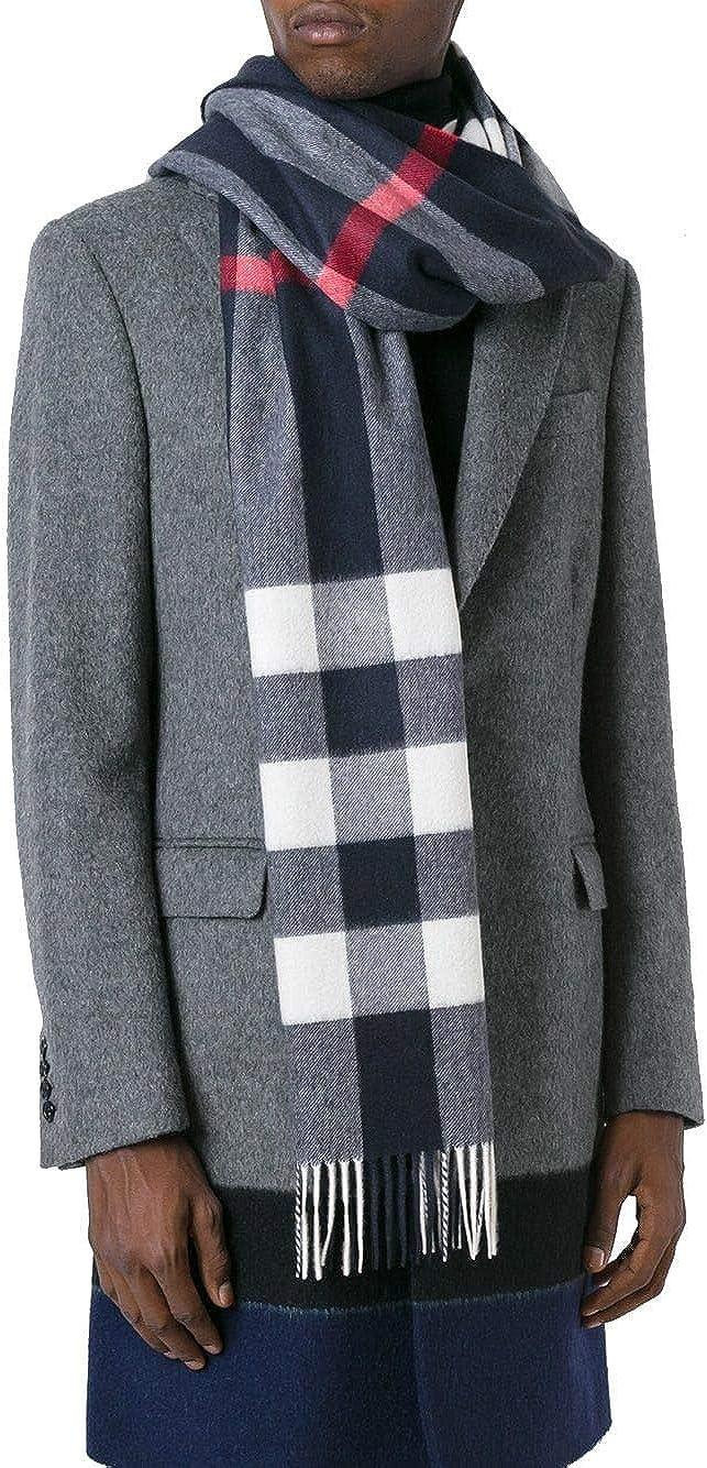 Burberry 4031054 - Bufanda de cachemira para hombre, color azul ...