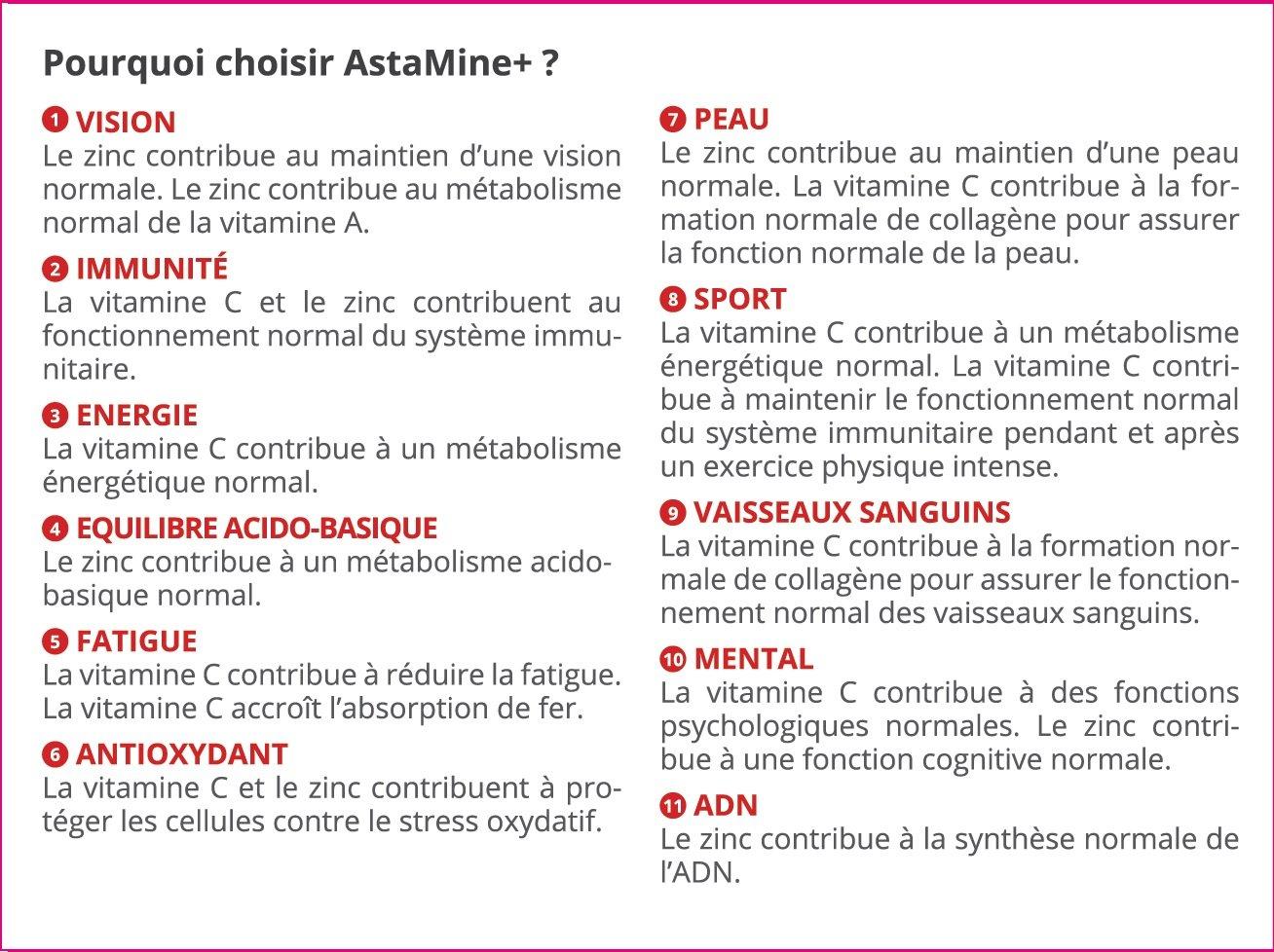 astamine + - astaxantina 9 mg Enrichie De cinc y Vitamina C - Ebo R & D - 30 gélules - 100% de ingrédients naturales - Producto para la visión, la fatiga, ...
