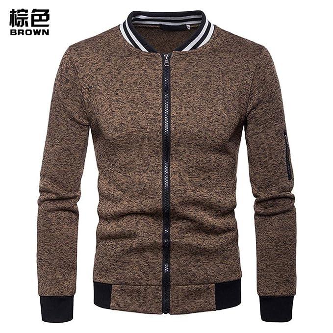 Chaquetas para Hombre Sweater Coat, otoño - Invierno, Moda Collar, Abrigo de Hombre: Amazon.es: Ropa y accesorios