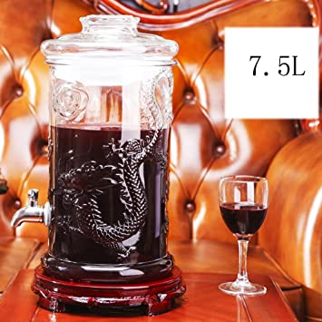 WZW Home Bier Getränk Glas Getränke Spender mit Hahn, Stand, 4L, 5L ...