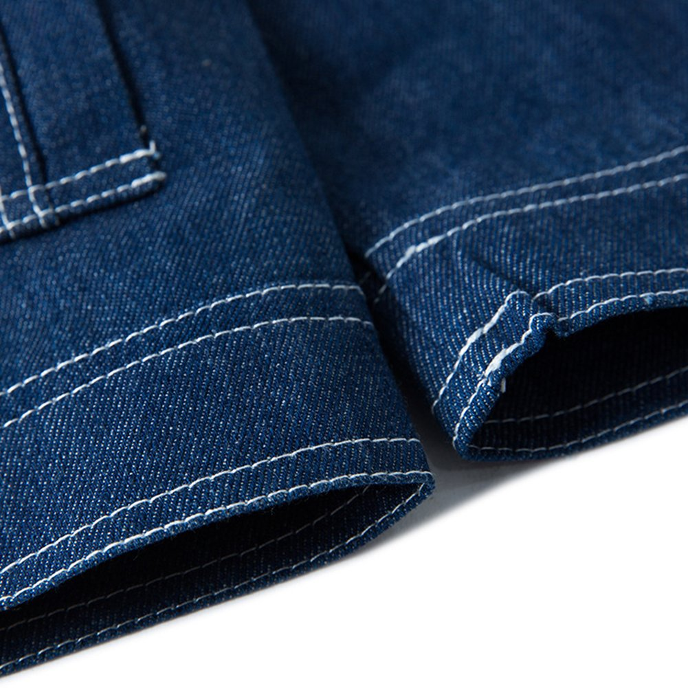 Amazon.com: LifeHe Denim - Chaqueta para hombre, color azul ...