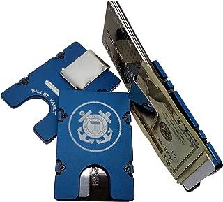 product image for HMC Billet United States Coast Guard RFID Protection Credit Card Holder Aluminum Wallet, Blue