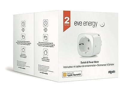 Eve Energy (x2 Set) - Sensor inalámbrico de electricidad e interruptor con la tecnología