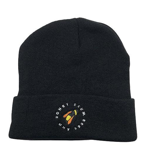 CZZYTPKK Golf Wang Warm Winter Hat Knit Beanie Skull Cap Bee Embroidered  Soft Headwear Black 62107fd1c86