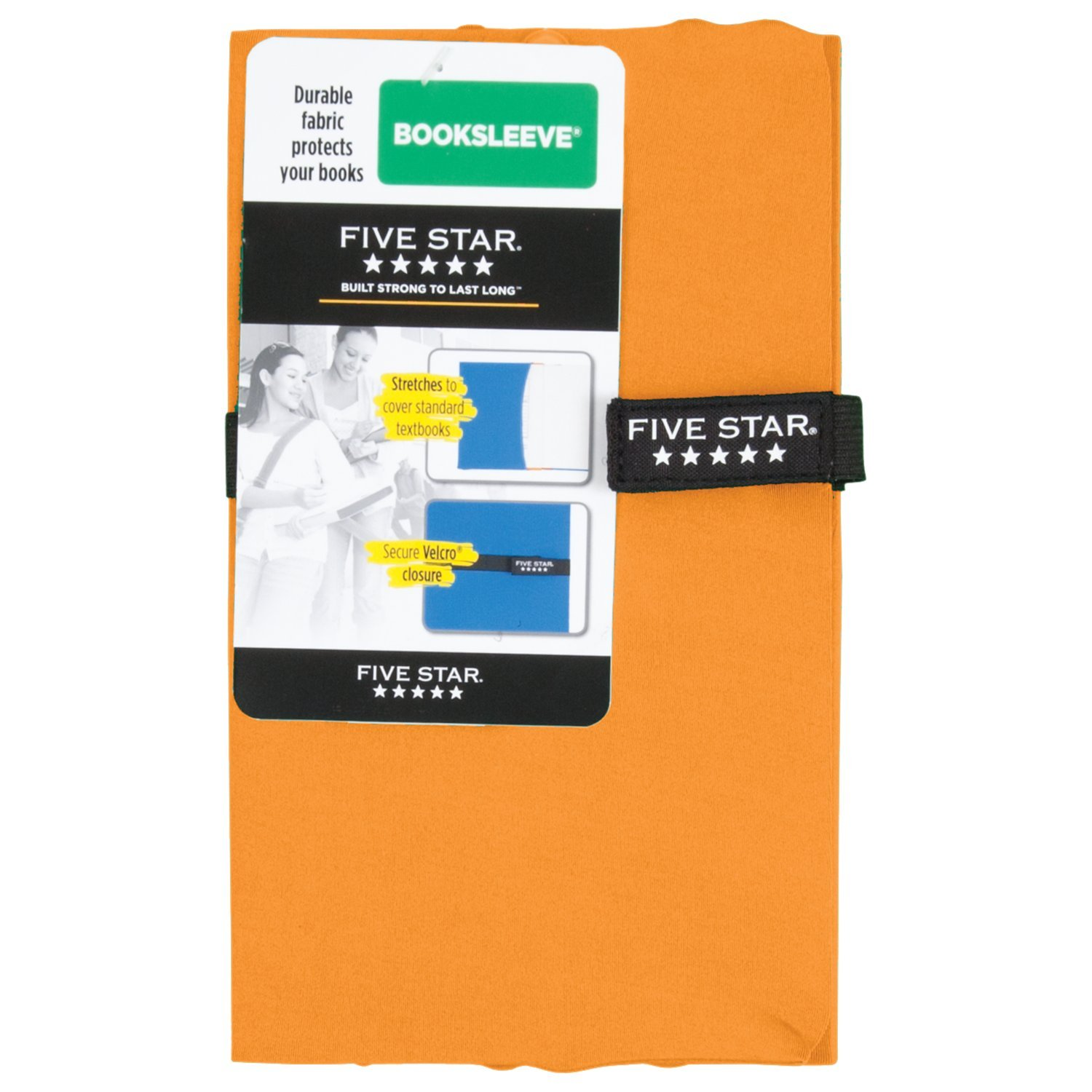 Five Star Book Sleeve/Book Cover, School Supplies, BookSleeve, Color Selected For You (50646)