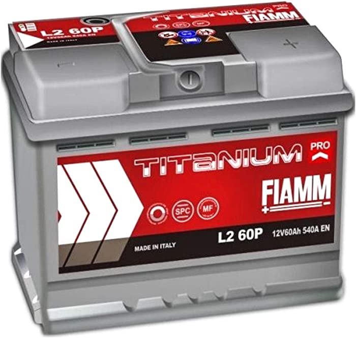Batteria fiamm per auto fiat 500 da 60ah 12v 540a cassetta l2 60p titanium pro 7905147-11