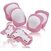 HIQE-FL ochraniacze na kolana, zestaw ochraniaczy dla dzieci, na łokcie i dla dorosłych, różowe