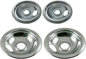 (New) 316048413 316048414 Genuine OEM compatible with Frigidaire Drip Pan Set, Two 6-Inch, Two 8-Inch fits 08005370, 316221201, 318067018, 318067056, 3205286, 438 + all models in description