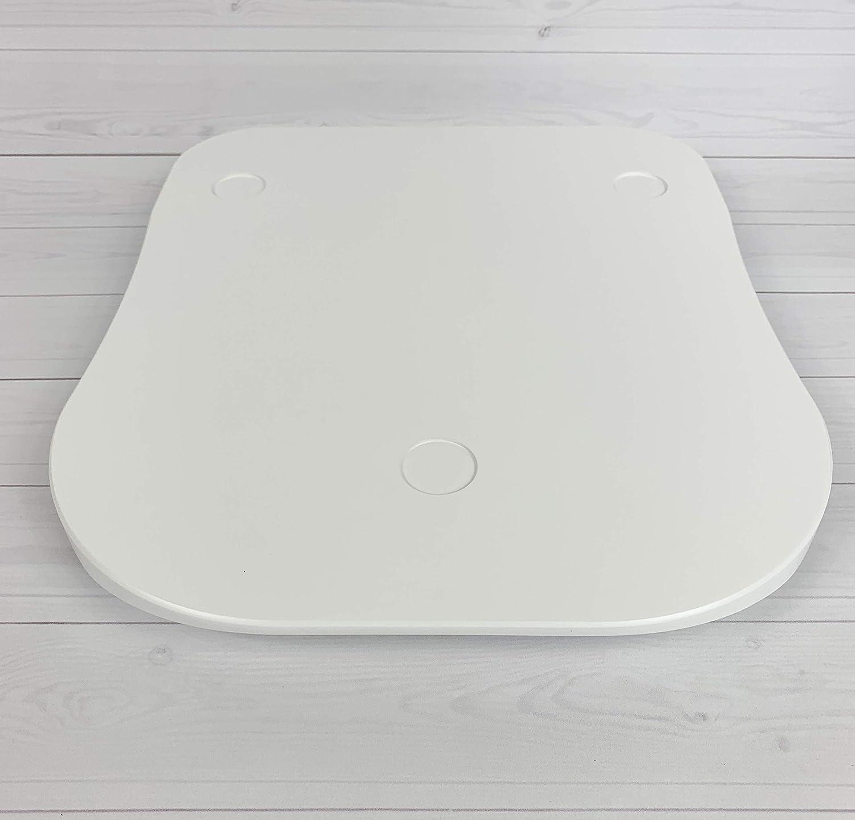 ThermoBase Premium Planche /à coulisser en bois//Inwood//pour Thermomix TM6//TM5//2 Semelle en t/éflon 2 amortisseurs en caoutchouc Pure White 8.