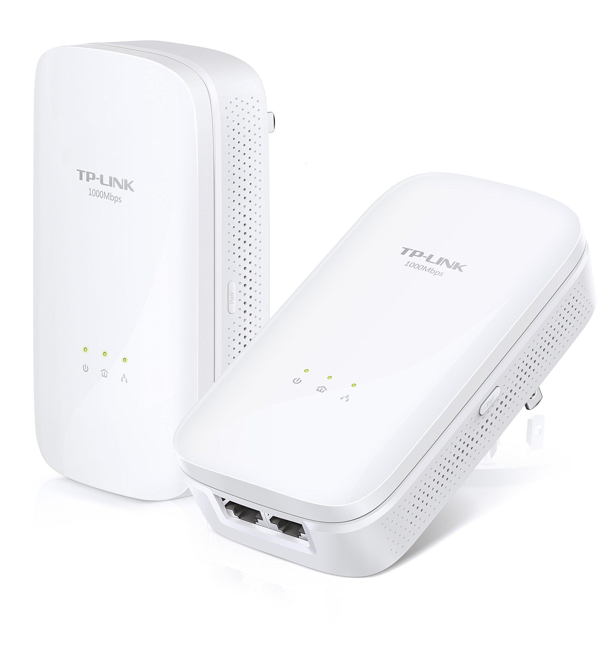 TP-Link AV1000 2-Port Gigabit Powerline Adapter, Up to 1000Mbps (TL-PA7020 KIT) (Certified Refurbished)