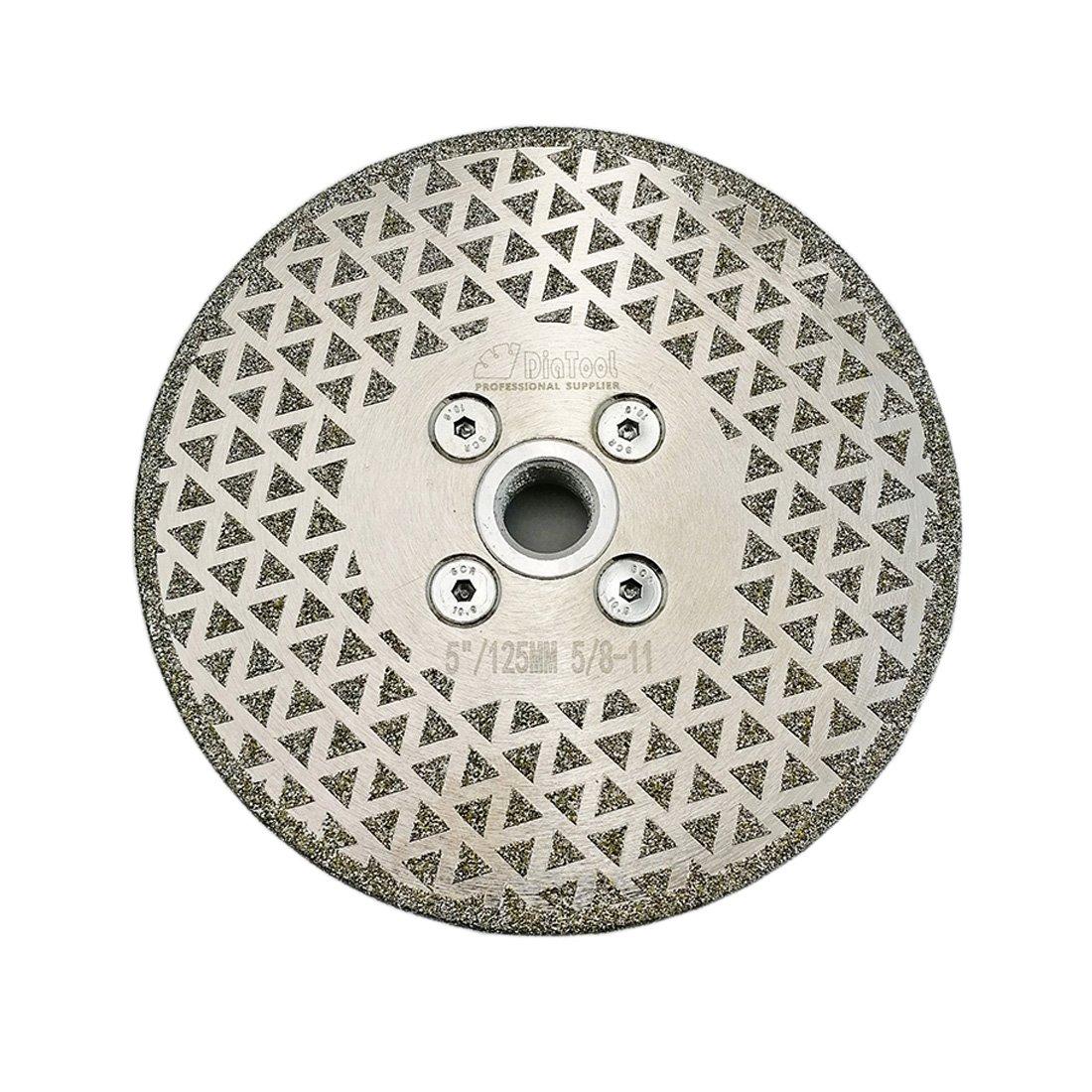Disco de Diamante SHDIATOOL pulido de corte galvanizado de 5 pulg. para de 5/8-11 arbor de un solo recubrimiento para de