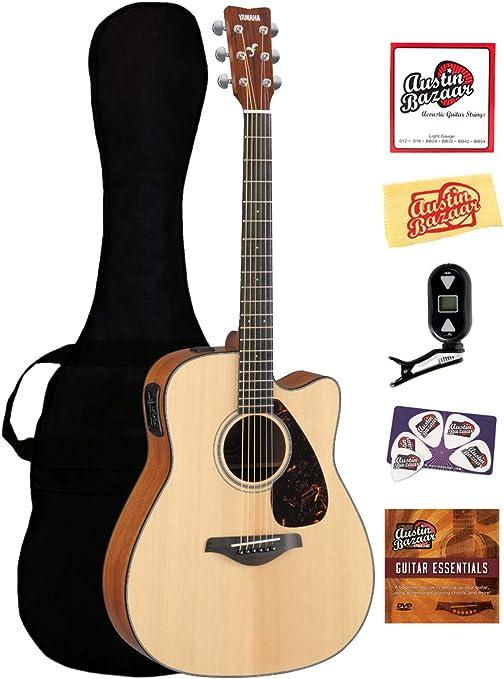 Yamaha fgx700sc Solid Top Cutaway Guitarra Electroacústica ...