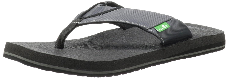Sanuk SANUK BEER COZY SMS2839 - Sandalias de vestir unisex 46 EU|Negro - black/grey/noir