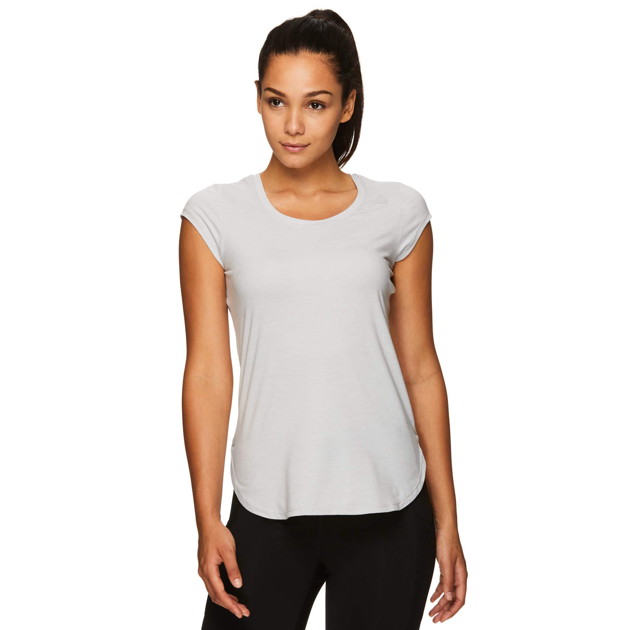 Reebok Women's Legend Performance Top Short Sleeve T-Shirt - Legends Grey Sky Heather, Small by Reebok