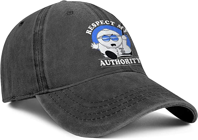 Respect My Authority Cartoon Mens Women Wool Hip Hop Cap Adjustable Snapback Sun Hat