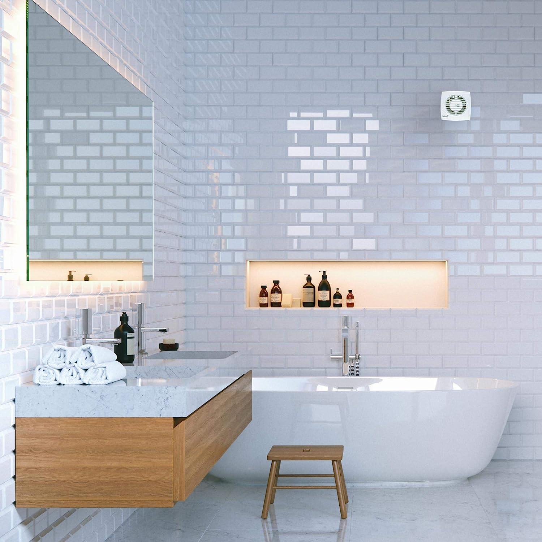 CATA B17 PLUS Abluftventilator Wand Weiß 17 m³/h 17 RPM -  Abluftventilatoren (Wand, Badezimmer, Weiß, Kunststoff, 17 m³/h, 17 cm)