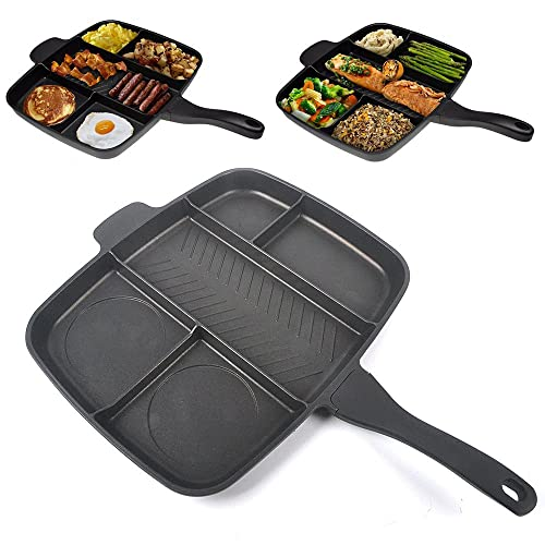 Master Pan Divided Frying Pan For All In One Cooked
