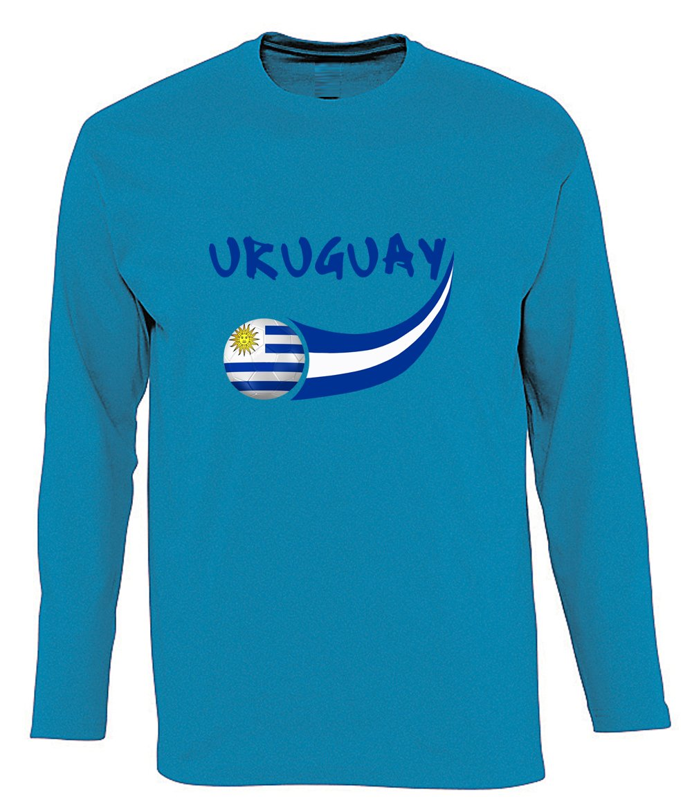 Supportershop Camiseta Uruguay L/S Aqua hombre, azul Aqua, FR: 2 x l (talla fabricante: XXL): Amazon.es: Deportes y aire libre