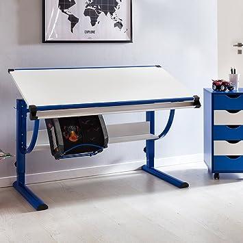 Kinderschreibtisch design  Wohnling Design Kinderschreibtisch Moritz Holz 120 x 60 cm blau/weiß ...