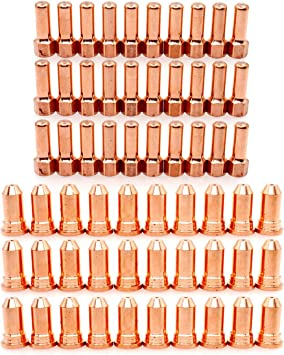 Plasma 52556 Electrode 51248 Tip 1.4mm fit Cutter Torch PT-100 IPT100 PT100 PK60