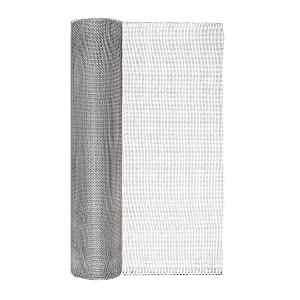 Garden Zone 24 Inches x 50 Feet - 1/8-Inch Openings - Galvanized Steel Wire Rolled Hardware Cloth - For Fencing Around Chicken Coop, Run, and Gardens