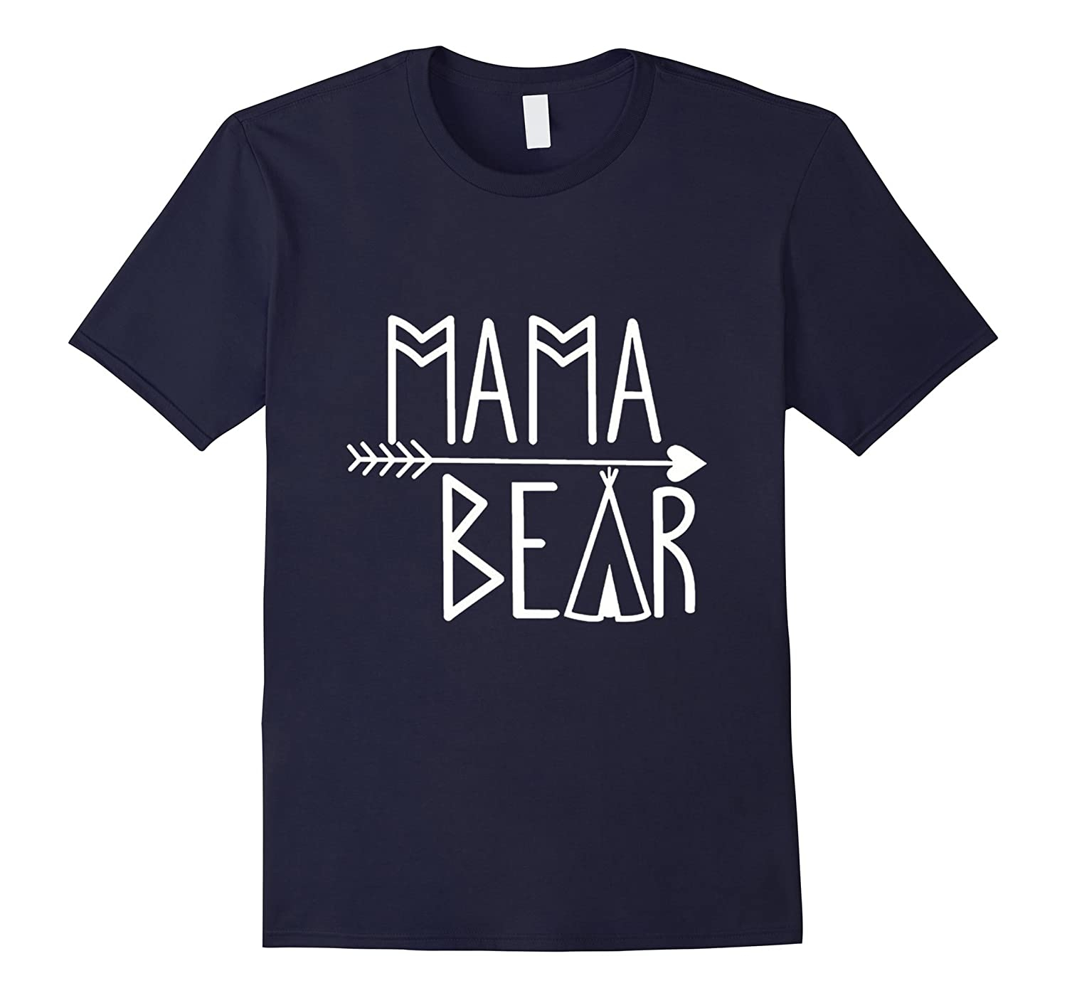 Mama Bear T-Shirts Ladies Present Mothers Day New Mommy Gift-TH