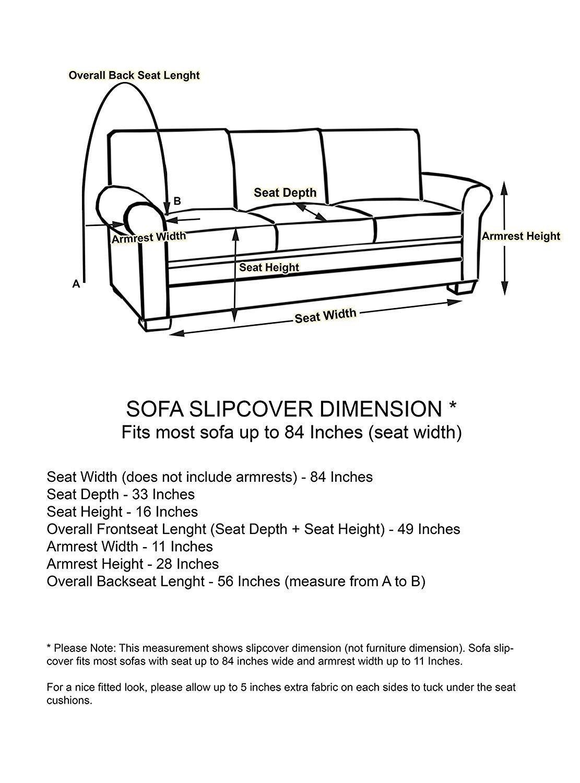 Amazon.com: Linen Store Microsuede Slipcover Furniture Protector Cover,  Brown, Sofa: Home U0026 Kitchen