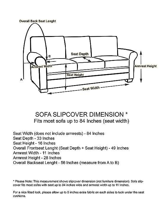 Exceptionnel Amazon.com: Linen Store Microsuede Slipcover Furniture Protector Cover,  Grey, Sofa: Home U0026 Kitchen