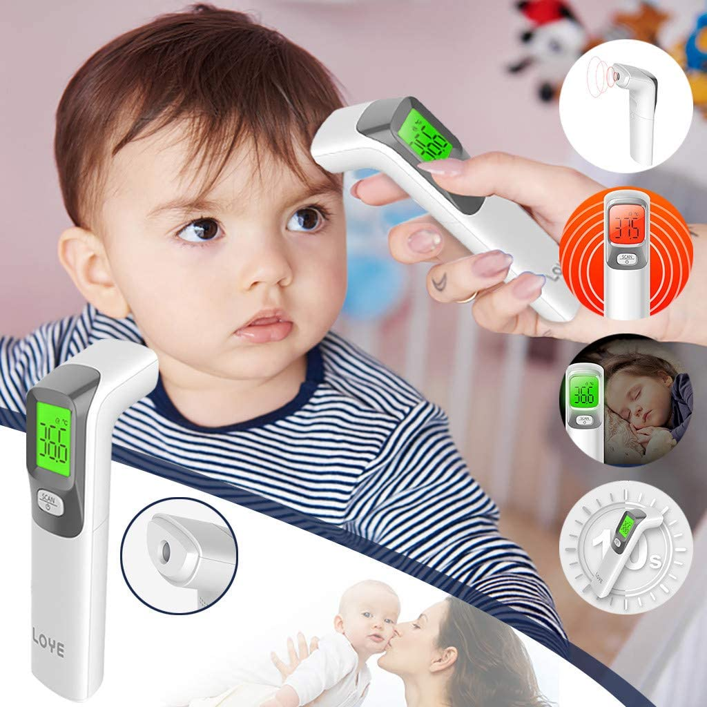 /°F Temperature Unit Switchable ℃ Digital Infrared Forehead Scanner for Kids and Adults Oceninok Non Contact Forehead Temperature Measuring Instrument
