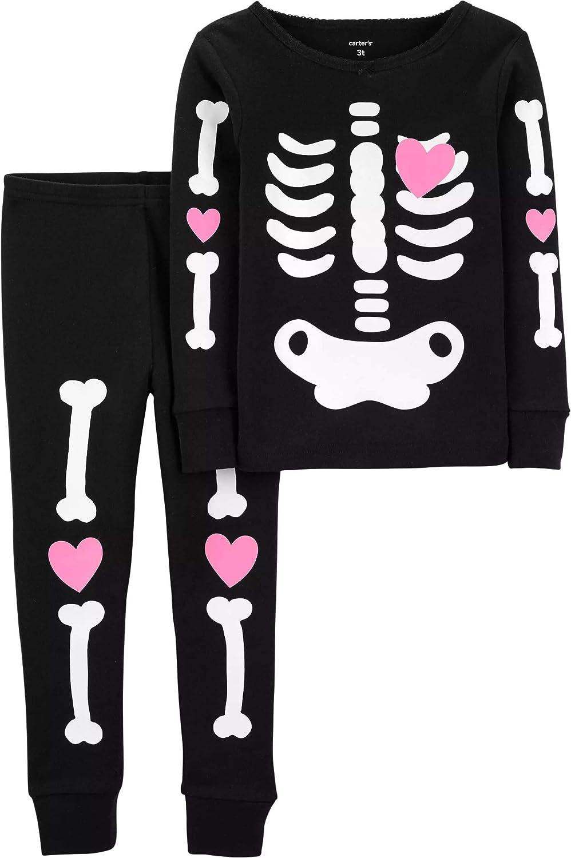 Carters 2T-8 - PJs para niña (2 piezas, algodón), diseño de Halloween: Amazon.es: Ropa y accesorios