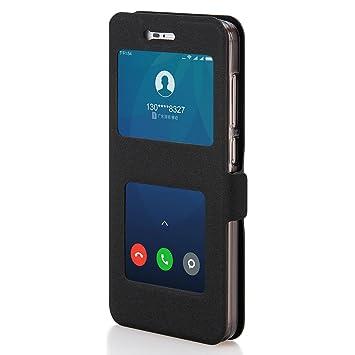 Funda Redmi Note 4X, Shanphone Funda folio Carcasa con Funcion de Ventana, Soporte plegable, Doble cierre magnético para Xiaomi Redmi Note 4X, Negro