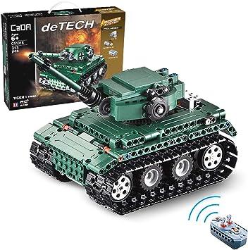 Cada Detech Tiger 1 Remote Control Tank Technology Construction Blocks 313 Pieces Amazon De Spielzeug