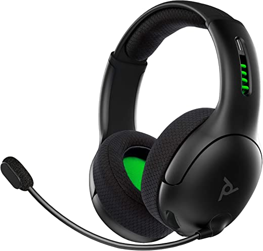 PDP Xbox One LVL50 Wireless Stereo Gaming Headset for Xbox One, 048-025-NA-BK