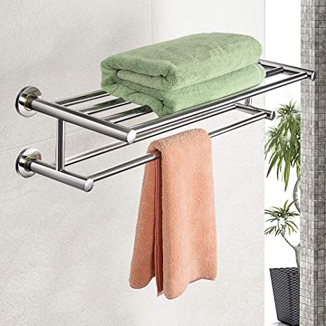 Amazon.com: Goplus - Toallero de pared de 24.0 in, de acero ...
