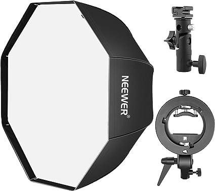 Neewer Foto Estudio 80 Centímetros Caja de Luz Octogonal Caja de Luz Flash con Soporte Tipo E y Soporte Tipo S para Fotografía de Retrato: Amazon.es: Electrónica