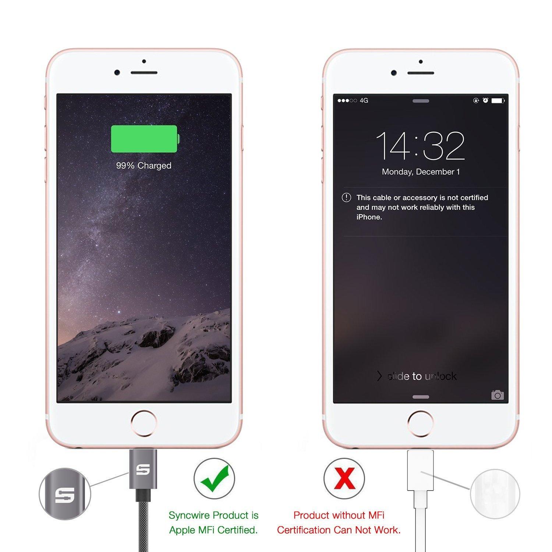 Cable Lightning Cargador iPhone de Syncwire por solo 9,49€