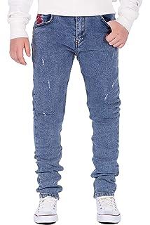 0699cfc34e YoungSoul Jungen Jeanshosen - Jeans mit Abschürfungen - Kinder Hose ...