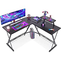 """ACPLAY L-Shaped Desk Computer Corner Table, 50.8"""" Home Gaming Desk, Office Writing Workstation with Large Monitor Stand…"""