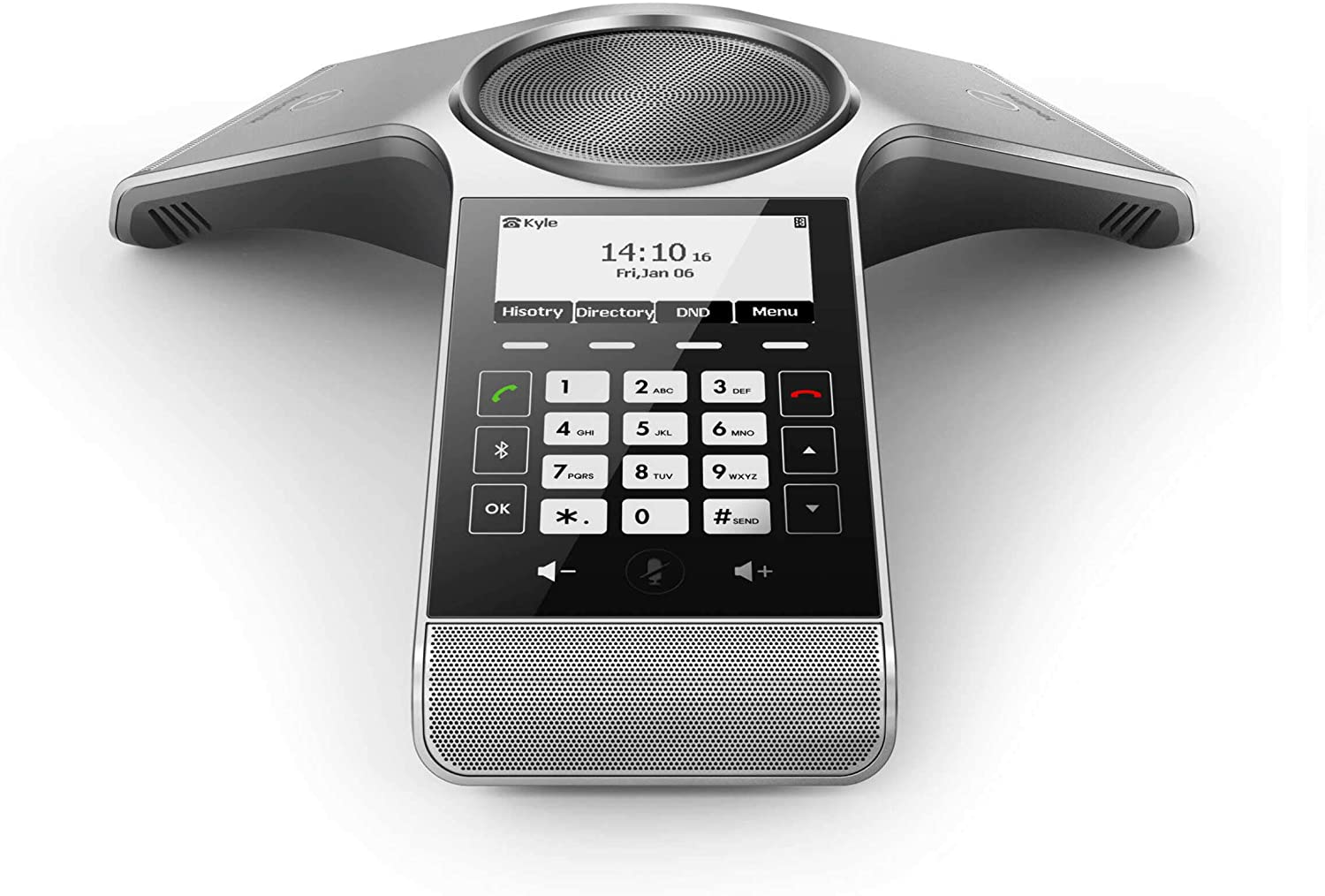 Yealink CP920 Conference IP Phone, 3.1-Inch Graphical Display. 802.11n Wi-Fi, 802.3af PoE, Power Adapter Included