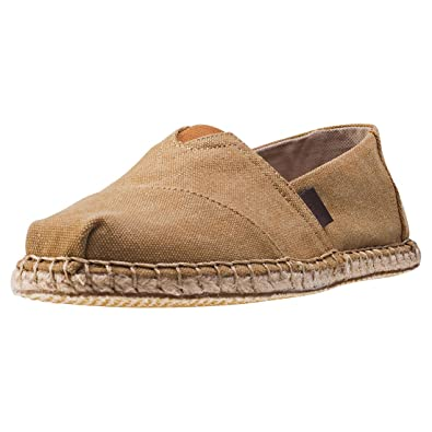 d0597640bf7 TOMS Men s Seasonal Classics Toffee Washed Canvas Blanket Stitch Loafer