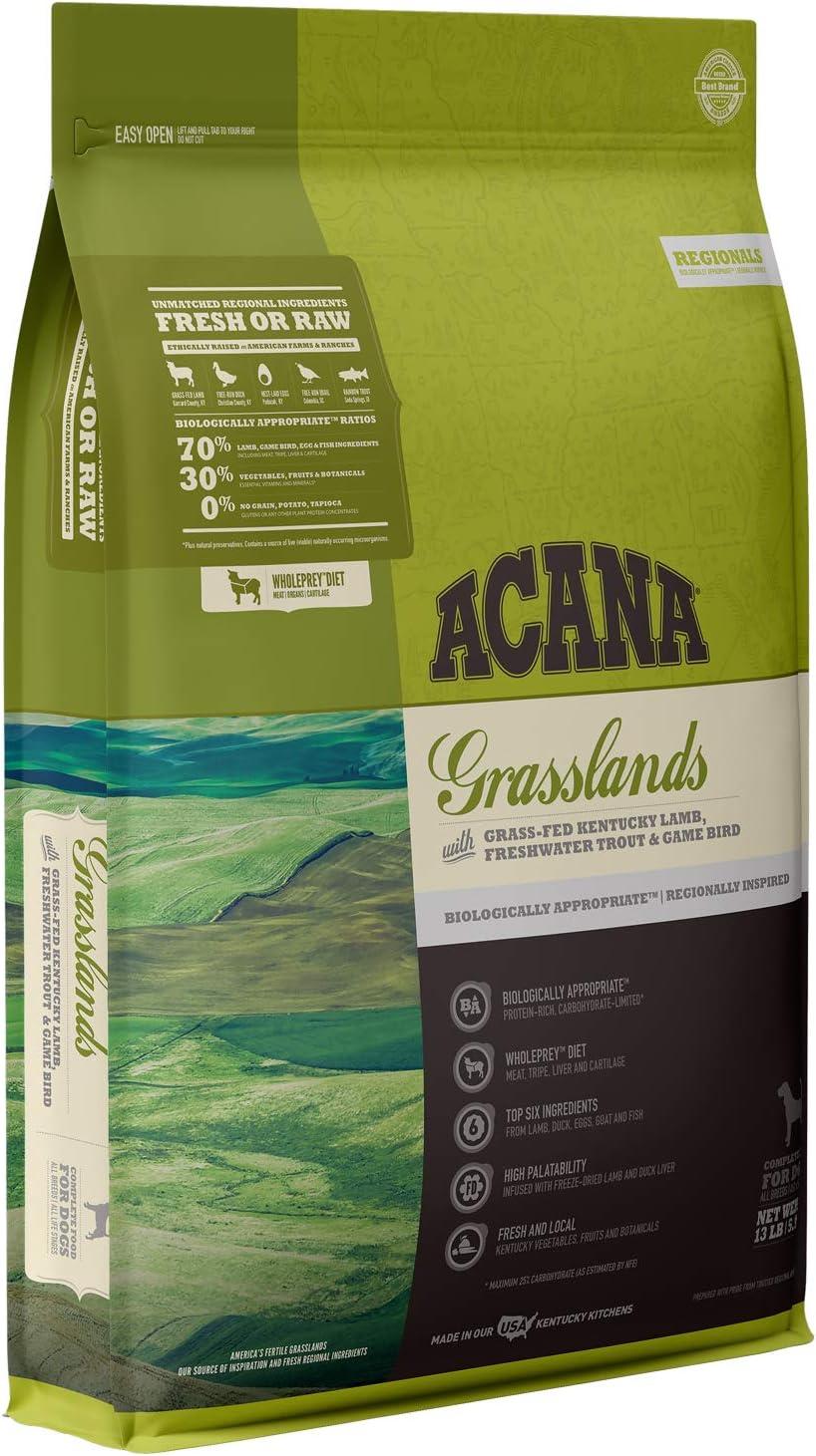 ACANA Regionals Grasslands Recipe, 13lb, Premium High-Protein, Grain-Free Dry Dog Food