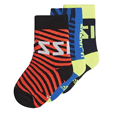 f315f4c030 Amazon.com: Adidas Kids Boys Socks Messi Football Boy Training 3 ...