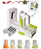 Vegetable Spiralizer, Foldable Premium 5 Blade Spiralizer Zucchini and Vegetable Spiral Slicer. Specially Made for Vege…