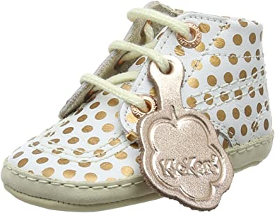 White Rose Gold Soft Pram Shoes Boot