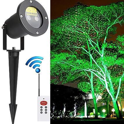 LED Garden Projector Lights Static Christmas Laser Light Star Shower IP67  Waterproof Outdoor Led Light Projector - Amazon.com : LED Garden Projector Lights Static Christmas Laser