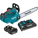 "Makita XCU09PT Lithium-Ion Brushless Cordless (5.0Ah) 18V X2 (36V) LXT 16"" Top Handle Chain Saw Kit, Teal"