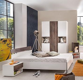 Dreams4Home Schlafzimmer Set \'Asya\' - Bett 180x200 cm, ohne Matratze ...